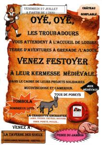 Affiche kermesse ALSH 2018 troubadour